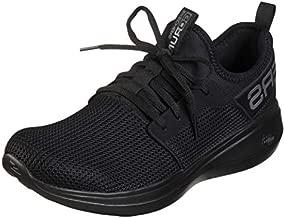 Skechers mens Go Run Fast Valor - Performance Running and Walking Shoe Sneaker, Black, 10.5 US