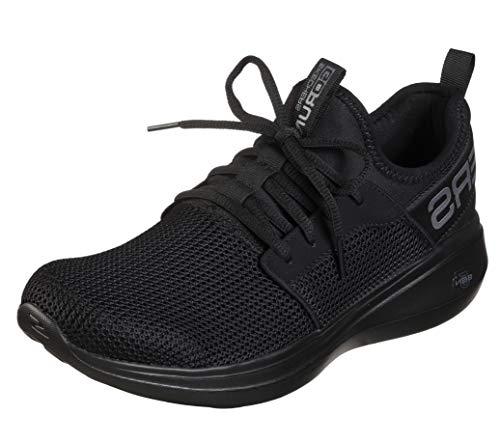 Skechers mens Go Run Fast - Valor Sneaker, Black, 10 US