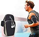 SPYKART™ Armband for Running Water Resistant Washable Mobile Holder Arm Band for Fitness Gym Outdoor Sports, Armband for All Smart Phones - Deep Black running armband for i phone Jan, 2021