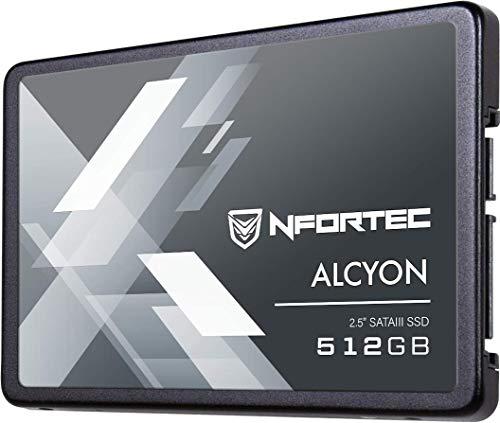 """Nfortec Alcyon 2,5"""" SSD 512GB SATA III,Disco Duro Estado sólido Interno con Interfaz Serial ATA III 6Gb/s"""