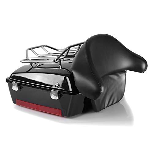 Baul Topcase Chopped-2 para Moto Guzzi California/ 1400 Custom con Parrilla Negro