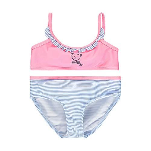 Steiff Mädchen Bikini Badebekleidungsset, Rosa (Pink Carnation 3019), (Herstellergröße: 110)