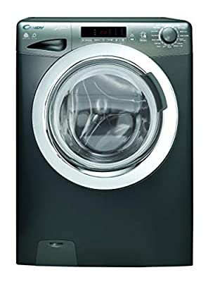 Candy GVSW485DCR Freestanding Grand'O Vita Washer Dryer, NFC Connected, 8kg+5kg Load, 1400rpm, Graphite