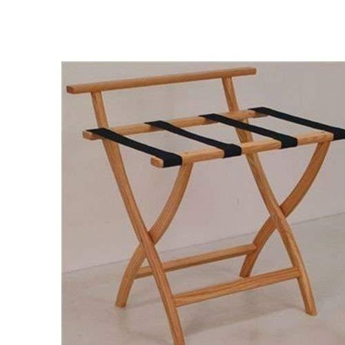 Wooden Mallet WallSaver Luggage Rack,Tan Straps, Light Oak