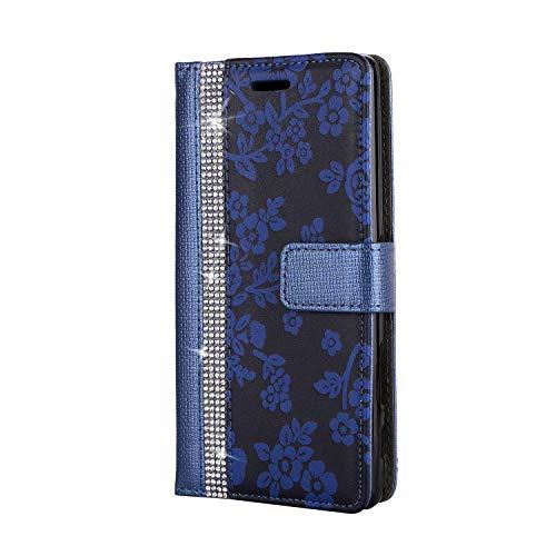 Sony Xperia X Hülle, SONWO PU Leder Brieftasche Flip Schutzhülle, TPU Bumper Flip Schutzhülle Kompatibel Sony Xperia X mit Karte Schlitz, Blau