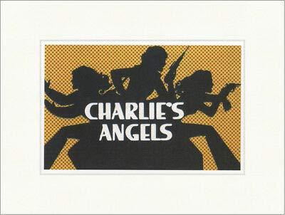 Kunstdruck DREI Engel für Charly Charlies Angels Logo London Plakatwelt 700