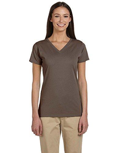 econscious Womens Short-Sleeve V-Neck T-Shirt (EC3052) -METEORITE -L