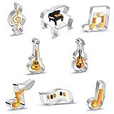 Ausstechformen Musikinstrumente Ausstecher 8 Stück, Edelstahl Keksausstecher Plätzchen Ausstecher Set für Backen Fondant Plätzchen, Tortendekorationen