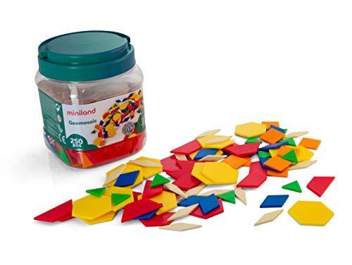 Miniland- Geomosaic Juego de geometría (95045) , color/modelo surtido