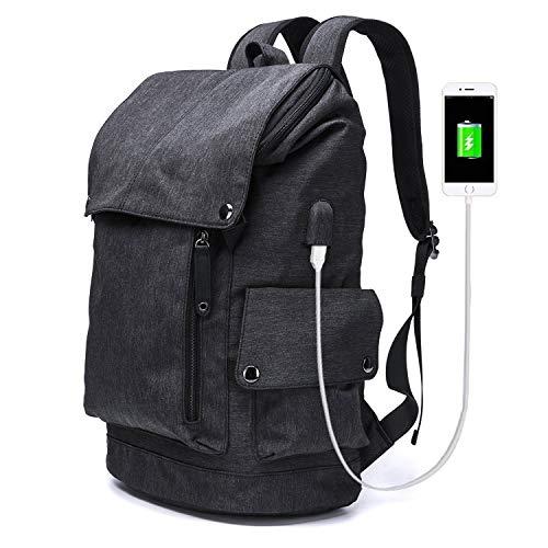 HEMFV リュック・カレッジバッグを充電USB付き防水Travelは、ノートパソコンのカジュアルリュックスクールバックパックデイパック「15.6' までフィット (Color : B)
