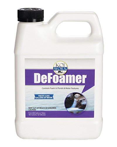KoiWorx Defoamer - 32oz- Removes Foam from Decorative and Ornamental Ponds, Safe for Koi