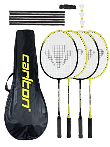 Carlton Turnier 4-Spieler Badminton-Set, mit Schläger, Stahlschaft, Erdspieße, netto & Post)