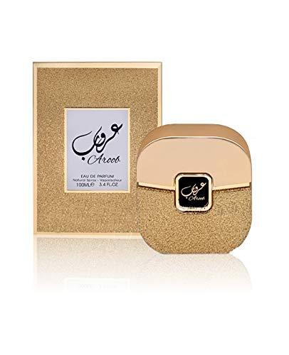 Aroob Perfume de 100 ml por My Perfumes árabe árabe unisex botella de fragancia en spray floral almizcle vainilla aroma