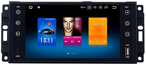 AUTO STEREO AUDIO PLAYER DOBLE DIN FM RADIO Android 10.0 SAT NAV LCD Monitor De 7 Pulgadas Pantalla Táctil GPS Navegación Compatible Para Jeep Wrangler Commander,8 core 4G+WiFi 4+64GB