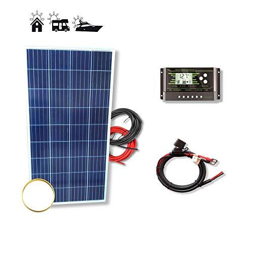 VIASOLAR Kit solar 150W Pro 12V placa solar panel policristalino para autocaravana furgoneta