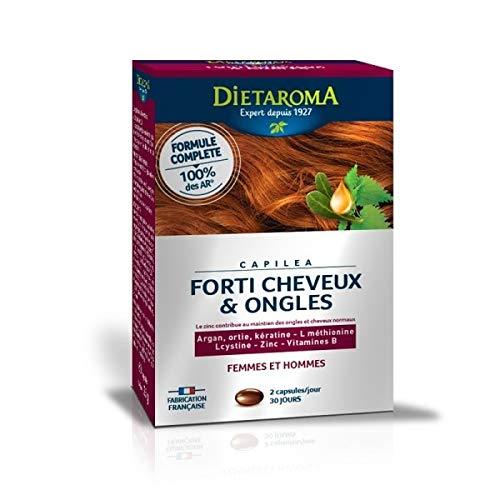Dietaroma - Capiléa cure 1 mois - 60 capsules molles - Nourrit et fortifie les cheveux
