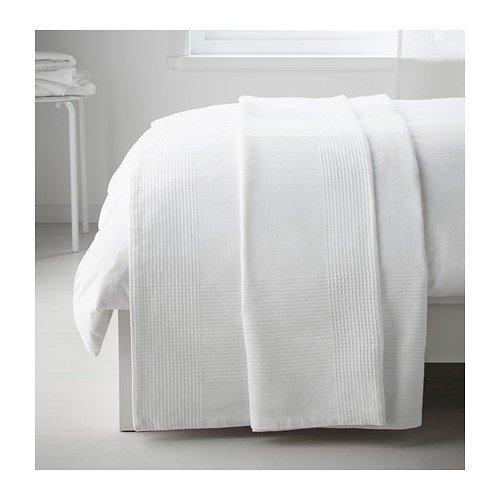 IKEA Indira Tagesdecken in weiß; 100% Baumwolle; (150x250cm); 2 Stück