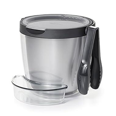 OXO 3 Piece Ice Bucket & Tong Set