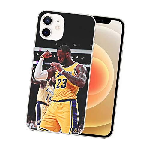 BAINI King James 23 # Funda protectora de goma suave para teléfono móvil, apto para iPhone 11 Pro/XR/XS Max/12/12 Pro 6-12 Pro