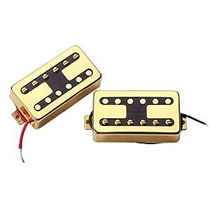 Artibetter E-Gitarren Humbucker Tonabnehmer Chrom Gold Doppelspulen Tonabnehmer für Gitarrenteile Zubehör