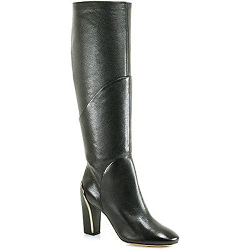 Diane von Furstenberg Women's Grace, Black Grainy Tumbled Leather, 6.5 B - Medium