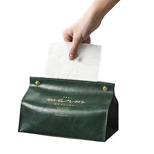 X-BLTU Caja de Cuero para Toallas,Caja de Tejido Triangular de la Cubierta Titular,Kleenex Servilletero Soporte para Organizador de Baño para Baño para Baño Tocador Mesa de Comedor Cocina Encimeras