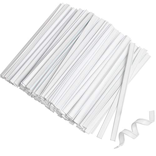 100 PCS Plastic Nose Bridge Strip Wire Piece, 10CM Double Washable Nose Wire, Adjustable Bendable Flat Nose Wire Clips Plastic Coated Strips Straps Pieces for Handmade Crafting Sewing Insert