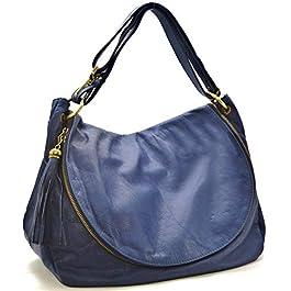 OH MY BAG Sac bandoulière Cuir porté épaule bandoulière et de travers Femmes en véritable cuir fabriqué en Italie…