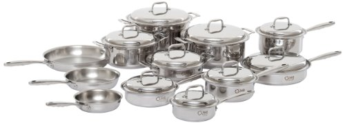 360 Stainless Steel Cookware Set, Handcrafted in the USA, Induction Cookware, Waterless Cookware, Dishwasher Safe, Oven Safe, Surgical Grade Stainless Steel Cookware, Pots and Pans Set (21 Piece Set)