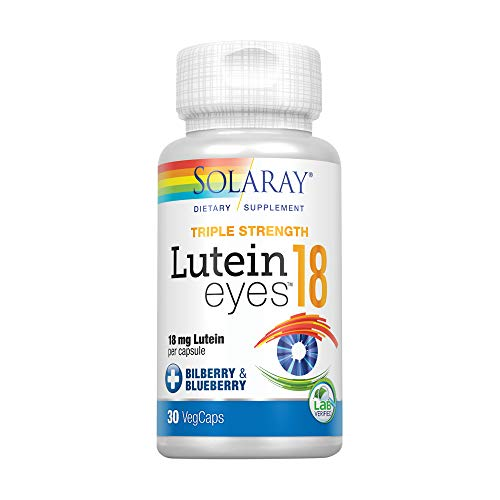 Solaray Lutein Eyes 18mg   30 VegCaps