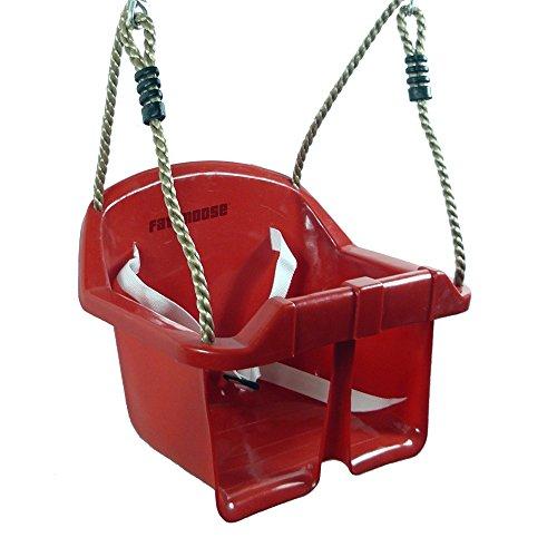 FATMOOSE Siège bébé SmartCruiser Siège de balançoire bébé, rouge, 320x300x260mm