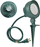DEWENWILS Outdoor Floodlight with Stake Plug in Light Sensor Timer for Christmas, 6W LED Waterproof Color Stake Light with 3ft Cord for Flag, Decoration,Yard,Garden,Lawn, UL Listed