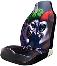 Heavenly Battle Harley Quinn and Joker Car Seat Covers Accessories Set Super Soft Vehicle Seat Decoration Protector Cover Bag 2 Pieces Set