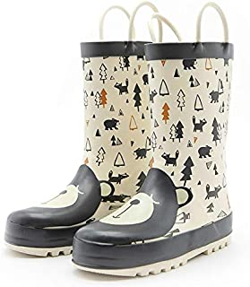 diyicihaojidong rain Boots Kids Girls Waterproof Children's Rubber Boots 3D Cartoon Bear Printed Toddler boy Rainboots