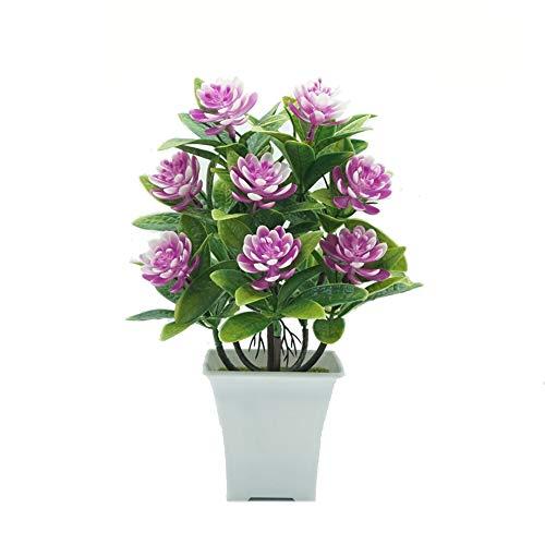Blumen YNFNGXU Gefälschte Verzierungen Wasser-Lilien 5 Farben verwendet for Hauptdekoration Simulation Plastikblumen Grünpflanzen Kleine Topfpflanzen (Color : D)
