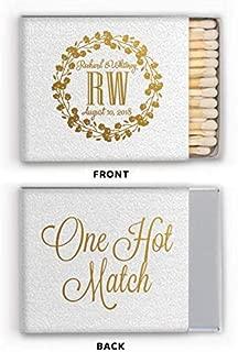 Personalized Matches, Matchbox Wedding Favors, Wedding, A Perfect Match, Decorative Matchbox 296