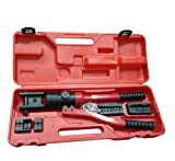 Calter 16 Ton Manual Hydraulic Cable Crimping Plier Tool Kit (10-300 mm 2 11 Die)