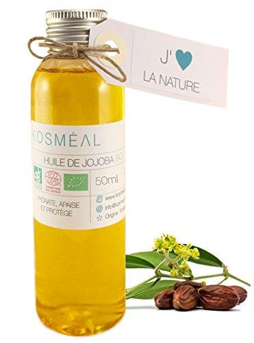 Aceite De Jojoba Ecologico 50 ml - 100% Puro Y Natural - BIO Aceite Prensado En Frío