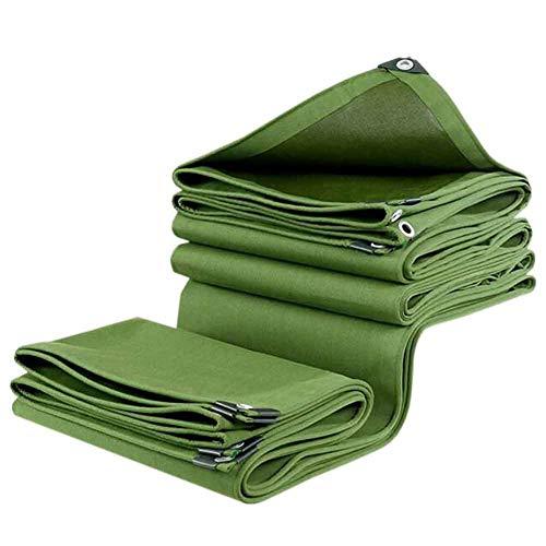 YCSD Lona Verde, Lona De Tela Recubierta De PVC para El Sol Y La Lluvia, Impermeable, Duradera, Resistente Al Desgarro, Lonas Resistentes Al Envejecimiento Durable Y(Size:3x6m)