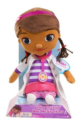 Doc McStuffins – Doc – Docteur La Peluche – Dottie – Peluche 33,5 cm Parlante Anglais (Import UK)