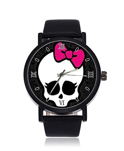 Modische Monster High Customized Rectangle Ultrathin Herren Damen Armbanduhr Business Casual Sport Quarzuhr für Frauen Herren Wasserdicht Unisex Armbanduhr