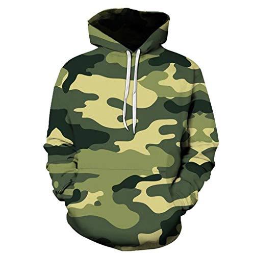Kapuzenpullover Herren,ITISME Herren Winter Fashion Camouflage 3D Gedruckt Hoodie Bluse Schwarz Cropped Kapuzenpullover Damen Beiläufig Tumblr Kapuzen Pullover Pullis Teenager Mädchen