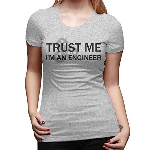 Camiseta de manga corta para mujer, de corte clásico, con texto en inglés