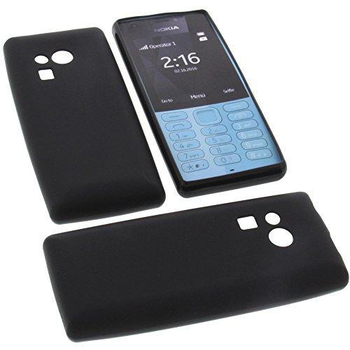 foto-kontor Tasche für Nokia 216 Gummi TPU Schutz Handytasche schwarz