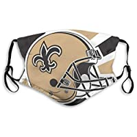 Reusable Washable Dust Filter and Reusable Mouth Warm Windproof Cotton Face (Men/Women, New Orleans Saints)
