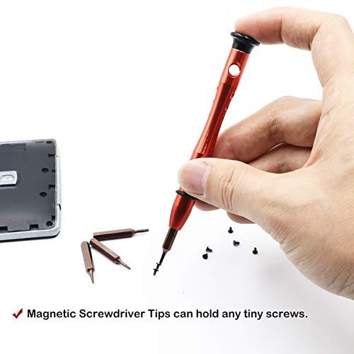 P5 Pentalobe Screwdriver,T5 Torx Screwdriver,5in1 Pentalobe Screwdriver Set with P2 P5 P6 T5 Tips, Repair Tool for iPhone and Macbook Repair