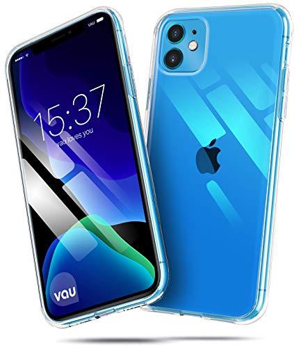 vau Hülle passend für Apple iPhone 11 (6.1) – SoftGrip transparent weiches Silikon-Case Handyhülle dünn durchsichtig Clear (LCD 2019)