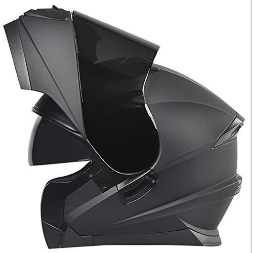 ZHEN Casco de motocicleta modular de cara completa, aprobado por la ECE, antivaho, doble visera integrada, para hombres y mujeres adultos (50-64 cm)