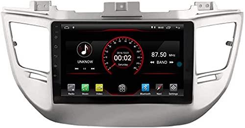 WJYCGFKJ Android 10 Lettore Dvd per Auto GPS Stereo Head Unit Navi Radio Multimedia WiFi per Hyundai Tucson ix35 3 Generazione 2015 2016 2017 2018 2019 Supporto per Il Controllo del Volante