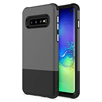 ZIZO Division Series for Galaxy S10 Case Lightweight with Anti Scratch Shockproof Gray Black